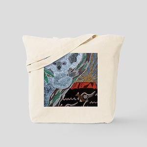 Koala  Kangaroo Sunset Tote Bag