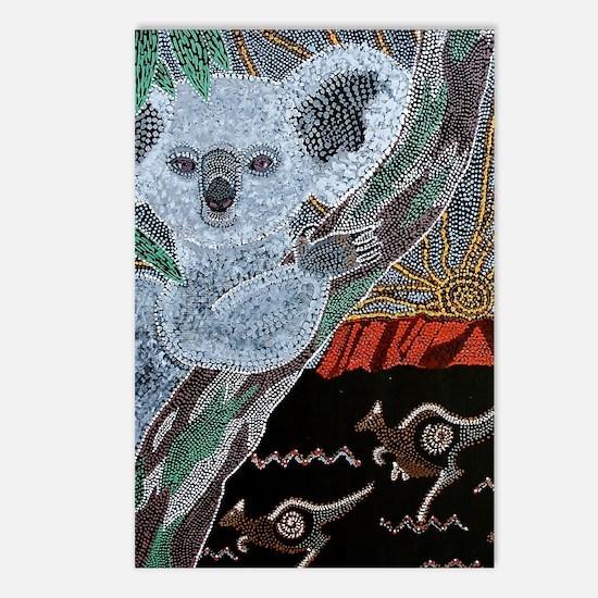 Koala  Kangaroo Sunset Postcards (Package of 8)