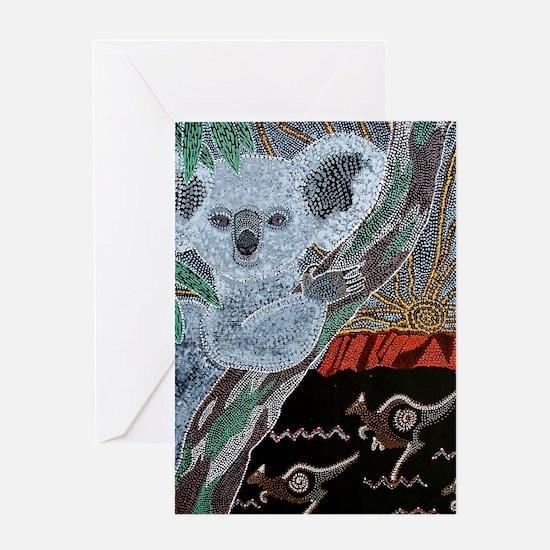 Koala  Kangaroo Sunset Greeting Card