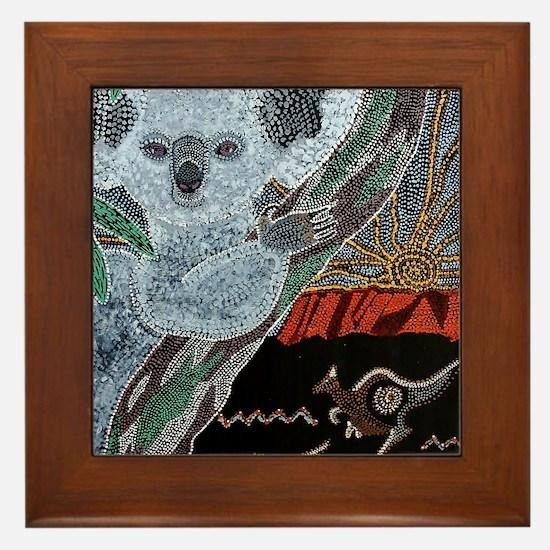 Koala  Kangaroo Sunset Framed Tile