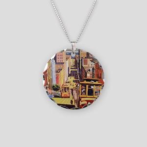 Vintage San Francisco Necklace Circle Charm