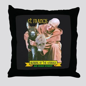 ST. FRANCIS OF ASSISI BLESSES Throw Pillow