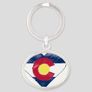 I Love Colorado Oval Keychain