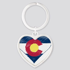 I Love Colorado Heart Keychain