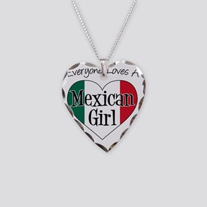 Everyone Loves Mexican Girl Necklace Heart Charm