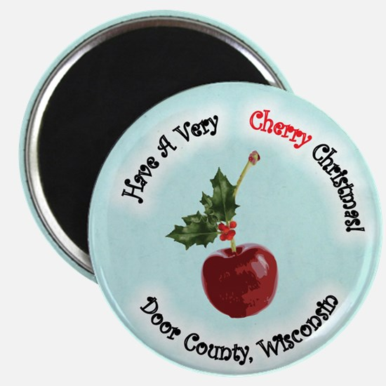Cherry Christmas Magnet