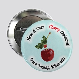 "Cherry Christmas 2.25"" Button"