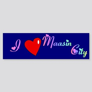 I Love Maasin City Gifts Bumper Sticker
