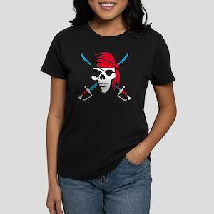 pirate saber skull and bones Women's Dark T-Shirt