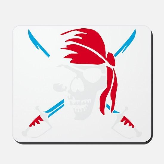 pirate saber skull and bones Mousepad