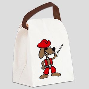pirate saber dog Canvas Lunch Bag