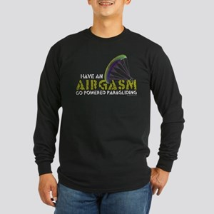 Powered Paragliding - Airgasm Long Sleeve Dark T-S