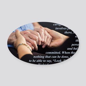 Im With You Oval Car Magnet