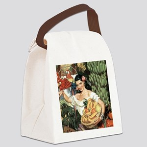 Vintage Mexico Canvas Lunch Bag