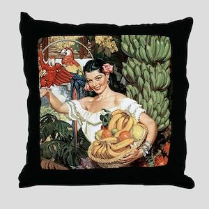 Vintage Mexico Throw Pillow
