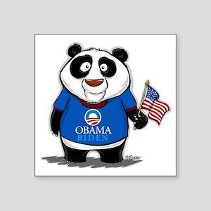 "Panda Politics for Obama Square Sticker 3"" x 3"""