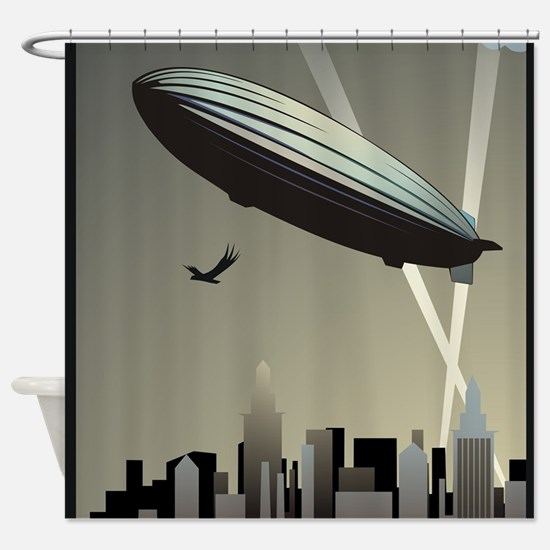 Zeppelin Skyline Shower Curtain