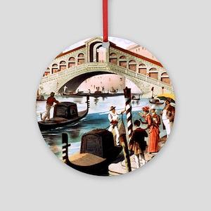 Vintage Venice Round Ornament