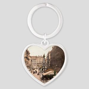 Vintage Vienna Heart Keychain