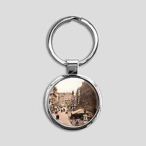 Vintage Vienna Round Keychain