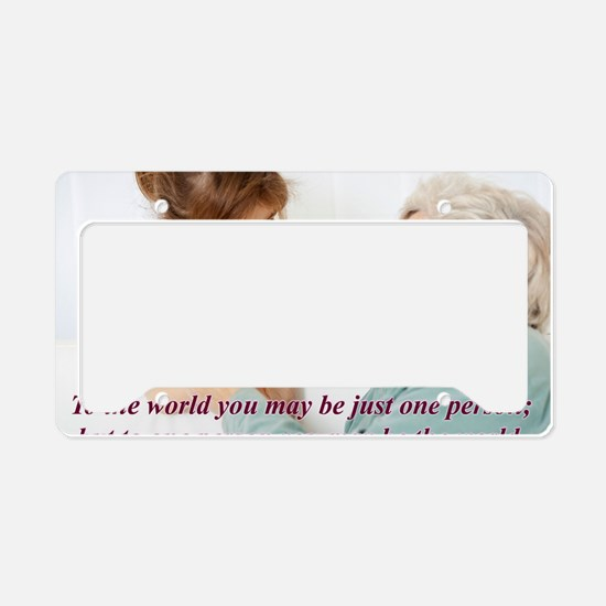 Be the World License Plate Holder