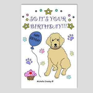 happy birthday from golde Postcards (Package of 8)