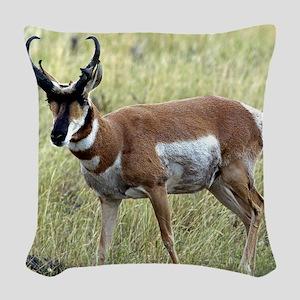 Antelope Woven Throw Pillow
