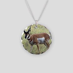 Antelope Necklace Circle Charm