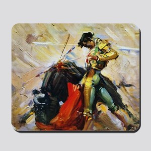 Vintage Bullfighting Mousepad