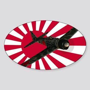 Zero Fighter Aircraft Sticker (Oval)