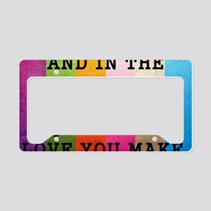 Vintage_Chick The Love You Ta License Plate Holder