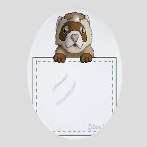 Pocket Ferret Oval Ornament