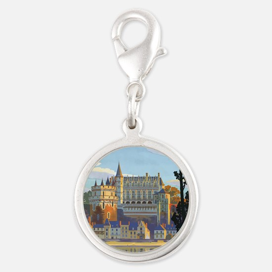 Château dAmboise Silver Round Charm