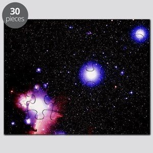 Optical image of the stars of Orion's belt Puzzle