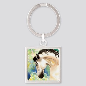 Spring Horse Square Keychain