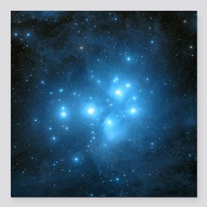"Pleiades star cluster Square Car Magnet 3"" x 3"""