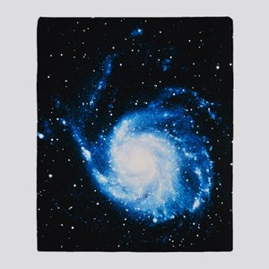 Optical image of M101, the Pinwheel  Throw Blanket