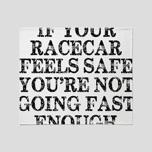Funny Racing Saying Throw Blanket