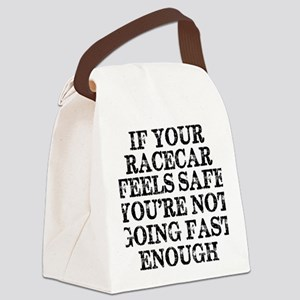 Funny Racing Saying Canvas Lunch Bag