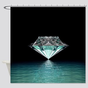 Aqua Diamond Shower Curtain