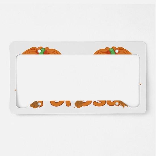 Halloween Pumpkin Teresa License Plate Holder