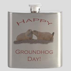 Groundhog Day Kiss Flask