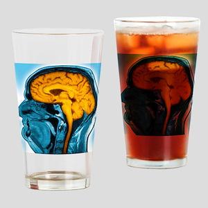 Normal brain, MRI scan Drinking Glass
