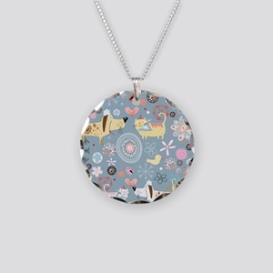 Dogs and Cats Necklace Circle Charm