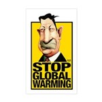 Stop Global Warming -- Rectangle Sticker
