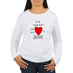 Jesus Heart Women's Long Sleeve T-Shirt