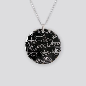 Particle physics equations Necklace Circle Charm