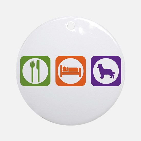 Eat Sleep Shepherd Ornament (Round)