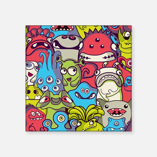 "Monsters and Aliens Square Sticker 3"" x 3"""