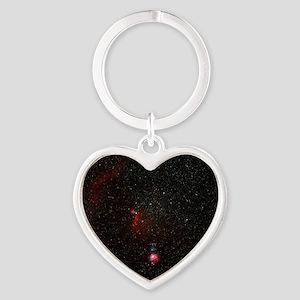 Orion constellation Heart Keychain